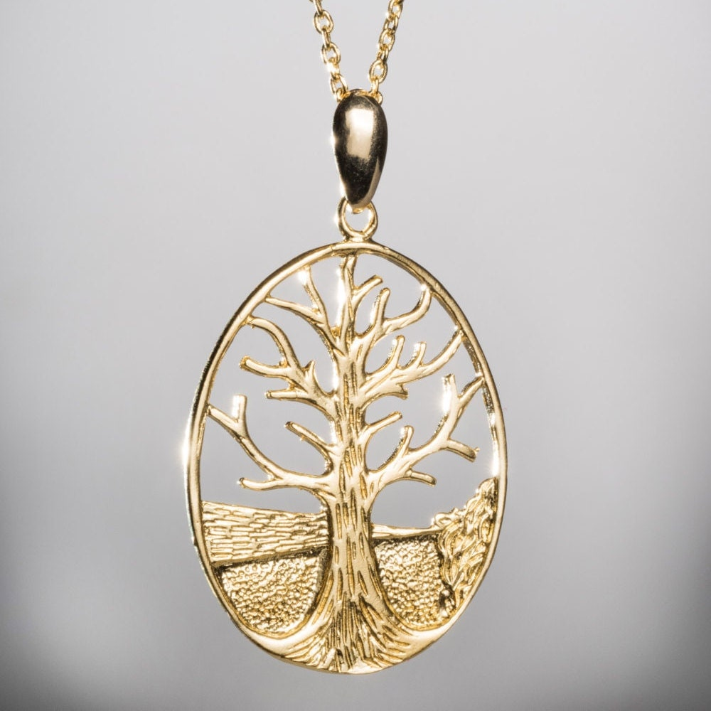 K Gold Tree Of Life Necklace