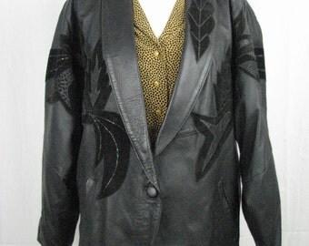 Vintage 80 leather jacket
