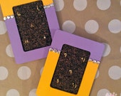 Purple & Gold Hand Painted 4in x 6in Jewelry Organizer (1 of 2)