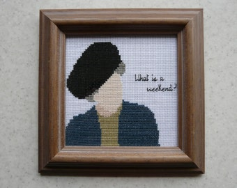 What is a Weekend? Lady Violet PDF Cross Stitch Pattern