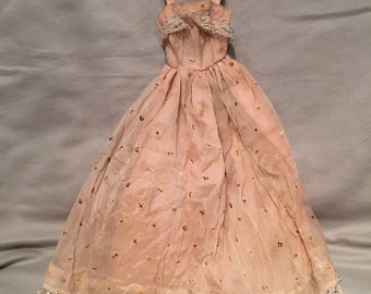 1960s Vintage Handmade Barbie Evening Gown