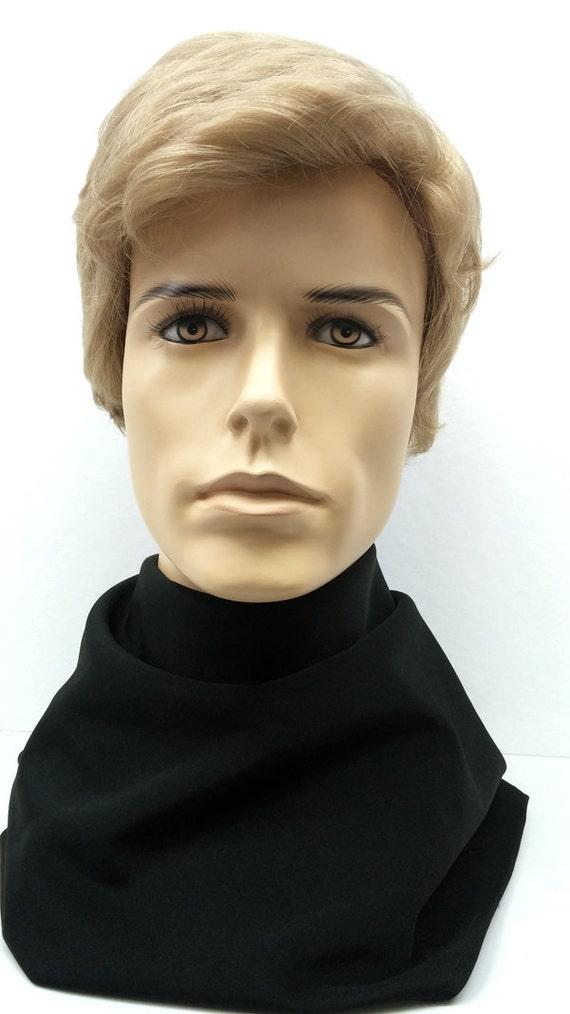 short blonde men s synthetic fashion wig men s side