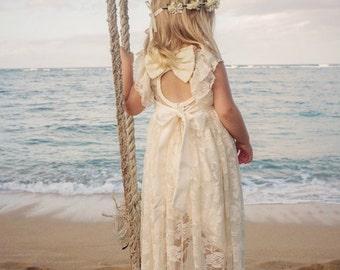 Beach flower girl | Etsy