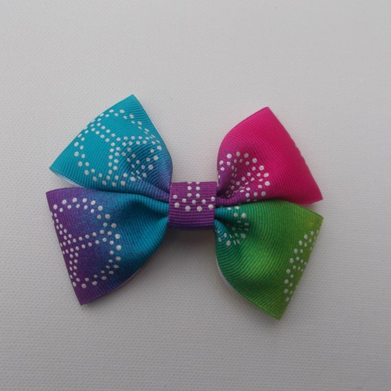 Multicolor Peace Sign Hairbow