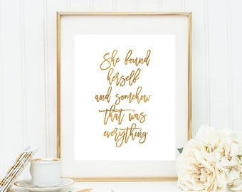 Taylor Swift Quote She found herself and somehow that was everything Taylor Swift Wall Print Teen Room Decor Dorm Decor Modern Wall Art