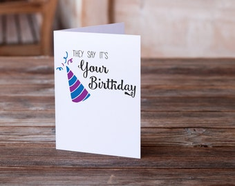 Funny Birthday Card | Snarky Birthday Card | Cheeky Card | Birthday Wishes | Funny Card | Inappropriate Card | Funny Greeting Card