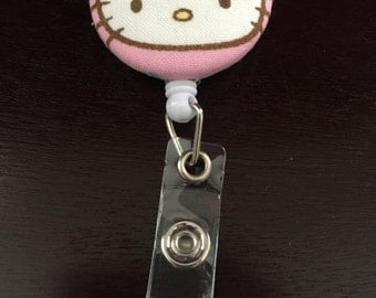 Hello Kitty Badge Reel ID Holder