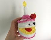 PATTERN - Birthday cake crochet pattern, Amigurumi pattern, Plush crochet pattern, Party cake, Derpy dessert, Candy