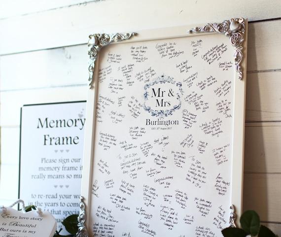 Wooden Wedding Guest Book Alternative Signing Frame Large