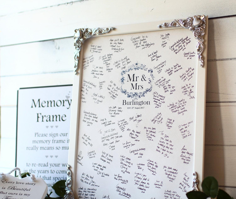 Wedding Memory Book Ideas: Wooden Wedding Guest Book Alternative Signing Frame Large