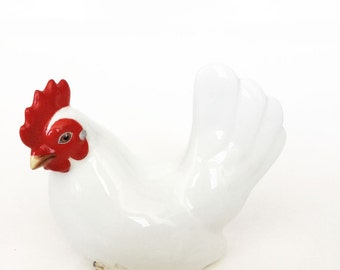 Noritake Hen Figurine Bone China Nippon Chicken with Original Box