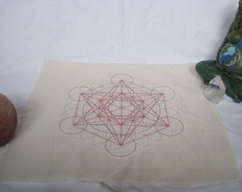 Metetron's Cube Crystal Grid Cloth