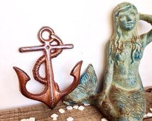 copper anchor hooks beach decor nautical home decor copper bathroom bathroom wall