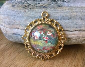 """Necklace """"Monet's nymphaea"""""""