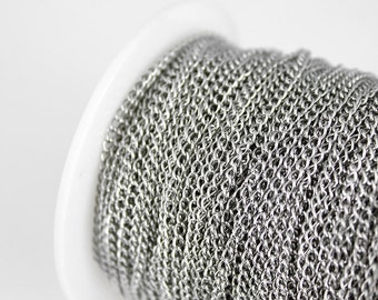Stainless Steel Chain - 3mm x 2mm Curb - 12ft
