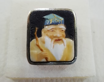 RING ring VINTAGE Chinese porcelain silver