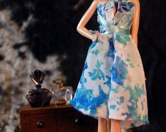 Handmade Barbie Dress : Garden Party Playdress