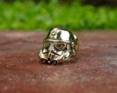 Storm trooper Ring - Star Wars Ring - Stormtrooper ring - Men's Star Wars Inspired Storm Trooper Darth Vader, B-25