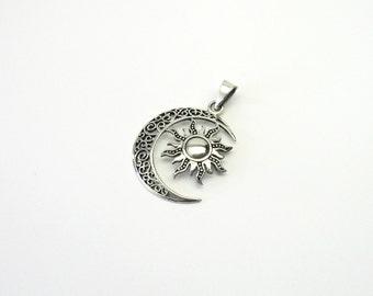 Celtic Crescent Sun Silver 925 Celtic