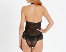 black sheer lingerie,see through lingerie,handmade lingerie,sexy, erotic lingerie,sexy teddy,women bodysuit,black mesh, black mesh bodysuit,