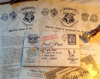 "Harry Potter Gift - A ""Lost in the Owl Post"" Harry Potter Personalized Hogwarts Acceptance Letter"