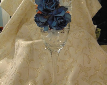 Decorated Champagne Flute