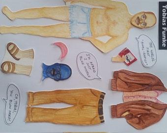 "Tobias Funke ""Paper Doll"" Magnet"