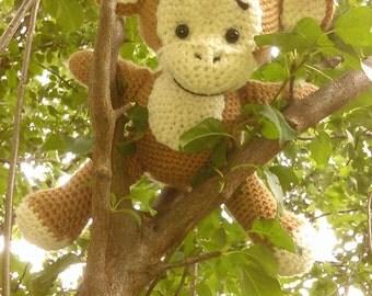 Handmade Crochet 2016 year of Monkey Baby Shower Gift - Amigurumi Stuffed Monkey - Crochet Monkey - Amigurumi Monkey - Monkey Toy