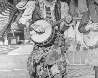 Original New Orleans Artwork - High Quality Pencil Drawings - Fine Art Illustration - Beautiful Graphite Rendering of Musicians