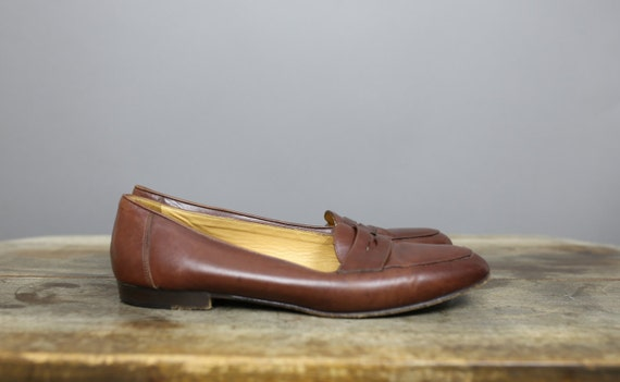 Womens 90s COLE HAAN chestnut brown loafers size  8.5