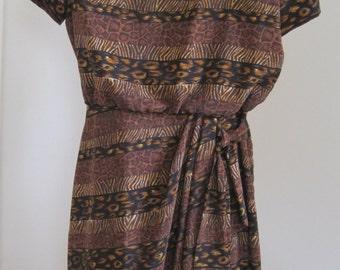 J. Stevens by Carol Escritor Dress, Size 10, Polyester, Vintage