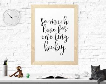 Printable Art, So Much Love.. Motivational Print, Minimalist Wall Art, Inspirational Quote, Nursery Wall Art, Wall Decor, Printable Quote
