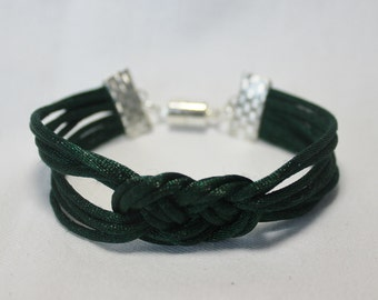 Knotted Rope Dark Green Bracelet