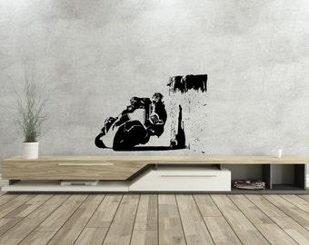 Race - Motorcycle- Free Style - Run- Streetbike - Vinyl Wall Decal - Isle of Man TT Race