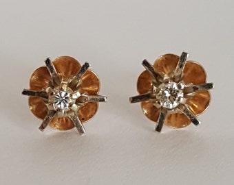 14k Vintage Diamond Studs   ***20% OFF!***