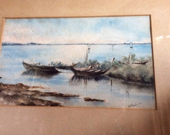 Nautical Water Color (original) by H. Henderson