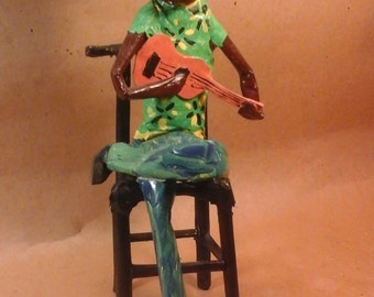 Painted Paper Sculpture by MAMA-GIRL, Visionary-Outsider  Artist