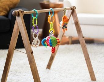 Wooden Baby Gym, Modern Baby Gym, Minimalist Baby Gym, Natural Baby Gym, Montessori Baby Gym, Activity Gym, Wood Activity Gym