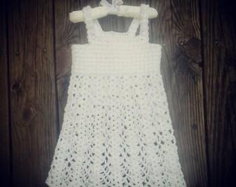Toddler Crochet Beach Dress