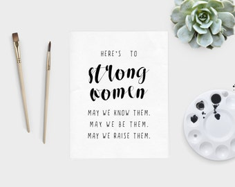 Here's to Strong Women — Digital Download