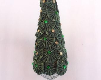 Fabric YO-YO Christmas Tree