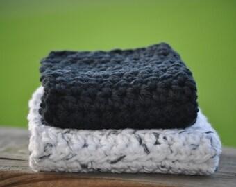 Dishcloths - Cotton Dishcloths - Baby Washcloths - Washcloths - Cotton Washcloths - Crochet Dishcloth - Eco Friendly Gifts - Dish Rags