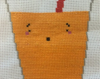 Orange Juice Cross Stitch
