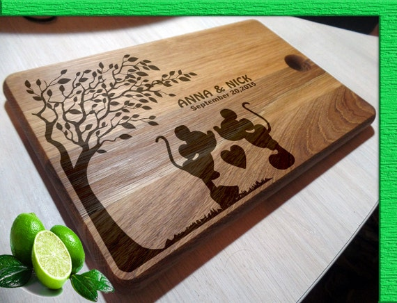 Personalized Disney Wedding Gifts: Cutting Boards Handmade / Mickey Mouse Cutting Board Wedding