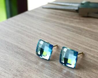 Swarovski Light Sapphire Studs Earrings