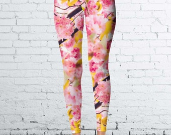 Pink Flower Leggings
