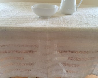 White Table Linen, Rectangle Tablecloth