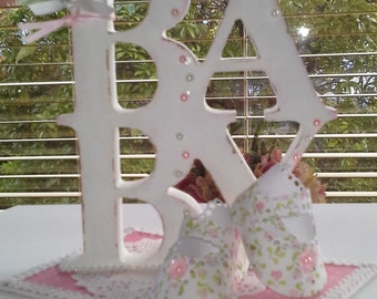 Shabby Chic decorated word for Baby Girl