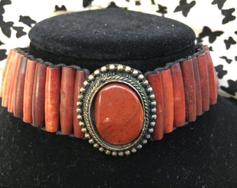 Red and Black Wooden Choker