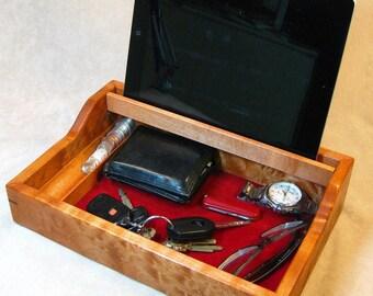 Smartphone Bedside Valet - Dyed Figured Maple - BV 22-24